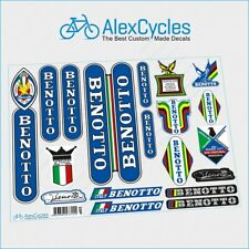 Vintage Rare Benotto Campagnolo Restoration Decals Kit + Gift Stickers Ride New