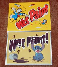 Genuine Disney Donald and Stitch Character Wet Paint signs