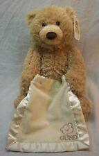 "Gund INTERACTIVE TALKING TAN PEEK-A-BOO BEAR 10"" Plush Stuffed Animal TOY"