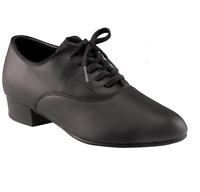 Black leather capezio classic oxford 445 ballroom/latin dance shoes -size UK 6