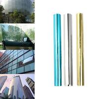 1Pc One Way Mirror Window Film Tint Static Home House Privacy Anti UV Solar Dark