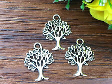 10pcs tree of Life Tibetan Silver Bead charms Pendants DIY jewelry 20x15mm