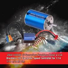 NEW 2838 4500KV 4P Sensorless Brushless Motor+35A ESC for 1/14 1/16 1/18 RC Car