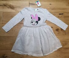 Disney Minnie Mouse Grey Dress Age 6/9 Months