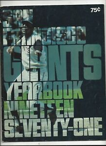 1971 San Francisco Giants Yearbook excellent - near mint condition (see scan)