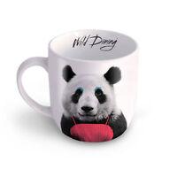 Wild PandaTasse Kaffeetasse Mug Teetasse Haferl Tier coole Geschenkidee weiß