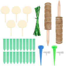 More details for 2pcs moss pole moss stick plant stake support for climbing monstera creepers