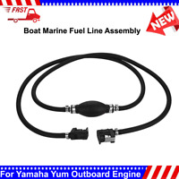 Marine Outboard Boat Motor Fuel/Gas Hose Line Assembly w/ Primer Bulb Connector
