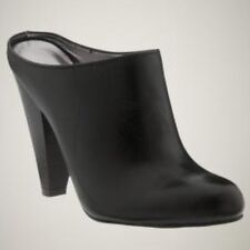 Gorgeous GAP Sz. 8 Ankle BOOTS Booties CLOGS Leather BLACK So CHIC!!    j