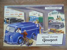 Brochure Prospekt Dépliant Prospectus 1956 PEUGEOT 203 D3A Utilitaires French