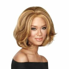 Brown Blonde Short Trendy Curly Wavy Cosplay Party Womens Heat Full Hair Wig US