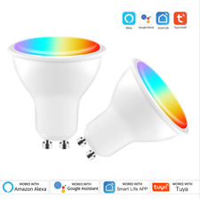 1-10x TUYA APP Wifi GU10 RGBW LED Bulbs Spotlight Lamp Wireless Remote for Alexa