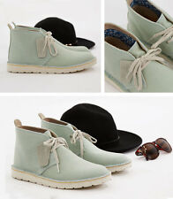 Clarks Womens Desert Aerial Textile Boots Pale Green, UK 3.5