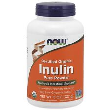 Now Foods Inulin Powder Org Pure Fos 8oz Made in USA FREE SHIPPING