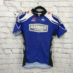Voler Cycling Jersey Kids 2XL Blue Raglan Zip Pockets Short Sleeve USA
