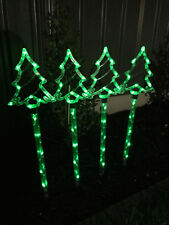 4 PCS 60 LED Green Tree Solar Christmas Garden Lights