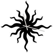 Euphyllia-Bad Capelli Giorno Orologio Da Parete 34 cm NERO (e9577blk)