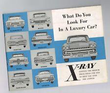 1959 RAMBLER X-RAY Brochure / Comparison Guide:AMBASSADOR vs.OLDS 88,EDSEL,ROYAL