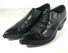 nocona ankle booties black leather western style men sz 8.5D (n10)