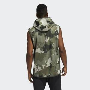 ADIDAS CONTINENT CAMO CITY SLEEVELESS HOODIE FEATHER GREY GC8273 SIZE SMALL