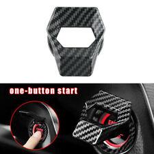 1x Carbon Fiber Car Accessories Engine Start Stop Push Button Switch Cover Trims