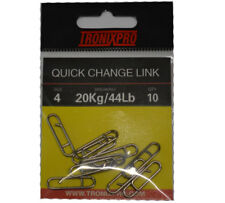 Tronixpro Quick Change Link Sea Fishing Terminal Tackle Rig Clips Size 4