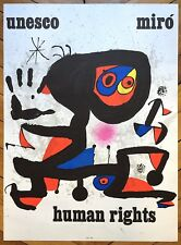 Miro Joan Affiche Lithographie Human Rights abstraction art abstrait abstraction
