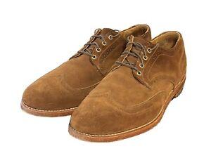 *Amazing* Rancourt Suede Brogue Wingtip US 10.5 D Mens Dress Shoe ~$350 Retail!!