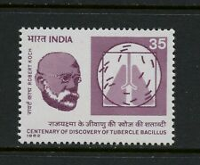 R443  India  1982   Robert Koch  tuberculosis   1v.  MNH