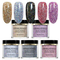 BORN PRETTY Top 5 Colors Dipping Powder Glitter Holographic Effect Nail Art Tool