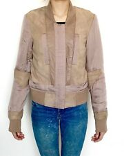 AllSaints Craddock Suede & Leather Jacket NWT Retail $530 Price $272 Size 0