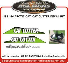 1991 - 1994  ARCTIC CAT  CAT CUTTER  Reproduction Decal Kit  graphics stickers