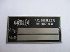 Typenschild oldtimer Schild LKW Meiller Kipper s29