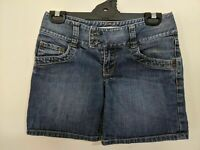 Just Jeans Women's Shorts Size 8 Blue Denim Pockets Belt Zip