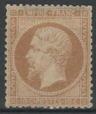 "FRANCE  STAMP TIMBRE N° 21 "" NAPOLEON III 10c  BISTRE 1862 "" NEUF x TB N305"