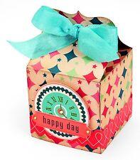 Sizzix Bigz Square Favor Box die #660782 Retail $19.99 SO SWEET & FUN!!