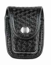 Bianchi 22117 AccuMold Elite Chrome Snap Pager or Glove Pouch Basketweave Black