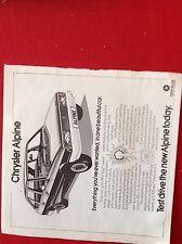 A1g ephemera advert 1976 Chrysler alpine test drive