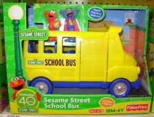 Fisher Price Sesame Street School Bus With Grover & Elmo Figures