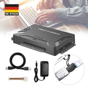 """USB 3.0 zu IDE/ SATA Konverter Externe Festplatte Adapter 2.5"""" / 3.5"""" Kabel Kit"""