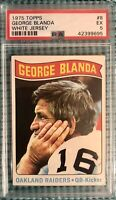 1975 Topps #8 George Blanda PSA 5 Excellent Condition Oakland Raiders HOF