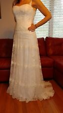 "NWT Maggie Sottero ""AMITY"" Wedding Dress Gown Romantic Vintage Lace Corset"