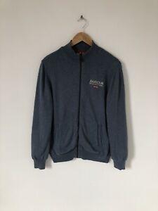 Barbour International Blue Full Zip Cardigan Size Medium
