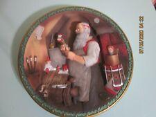 "New ListingNorman Rockwell ""Santa's Workshop"" Christmas Legacy 3D Collectors Plate 1992"