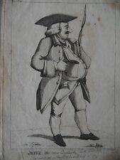 Rare Mary Darly 1773  Caricature Portrait Jehu the true English Coachman.