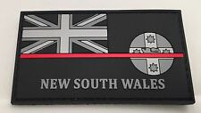Thin Red Line, NSW Fire Rubber / PVC Patch, State Flag, Hook Rear