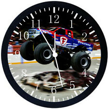Big Truck Black Frame Wall Clock Nice For Decor or Gifts E184