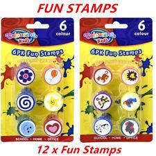 Kids 6pk Fun Animals STAMPS | Monkey Zebra Parrot Elephant Tiger Lion