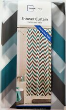 "Mainstays Shower Curtain 100% Chloride-Free PEVA Alpha Teal Gray 70""W x 72""L"