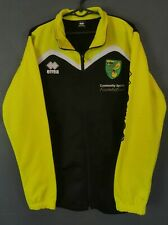 MEN ERREA FC NORWICH CITY 2018/2019 TRAINING SOCCER FOOTBALL SHIRT JACKET SIZE L